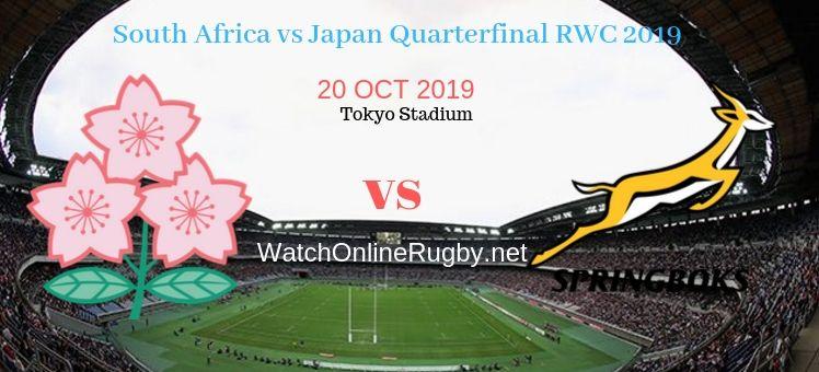 Japan VS Springboks 2019 RWC Quarter-final Live Stream