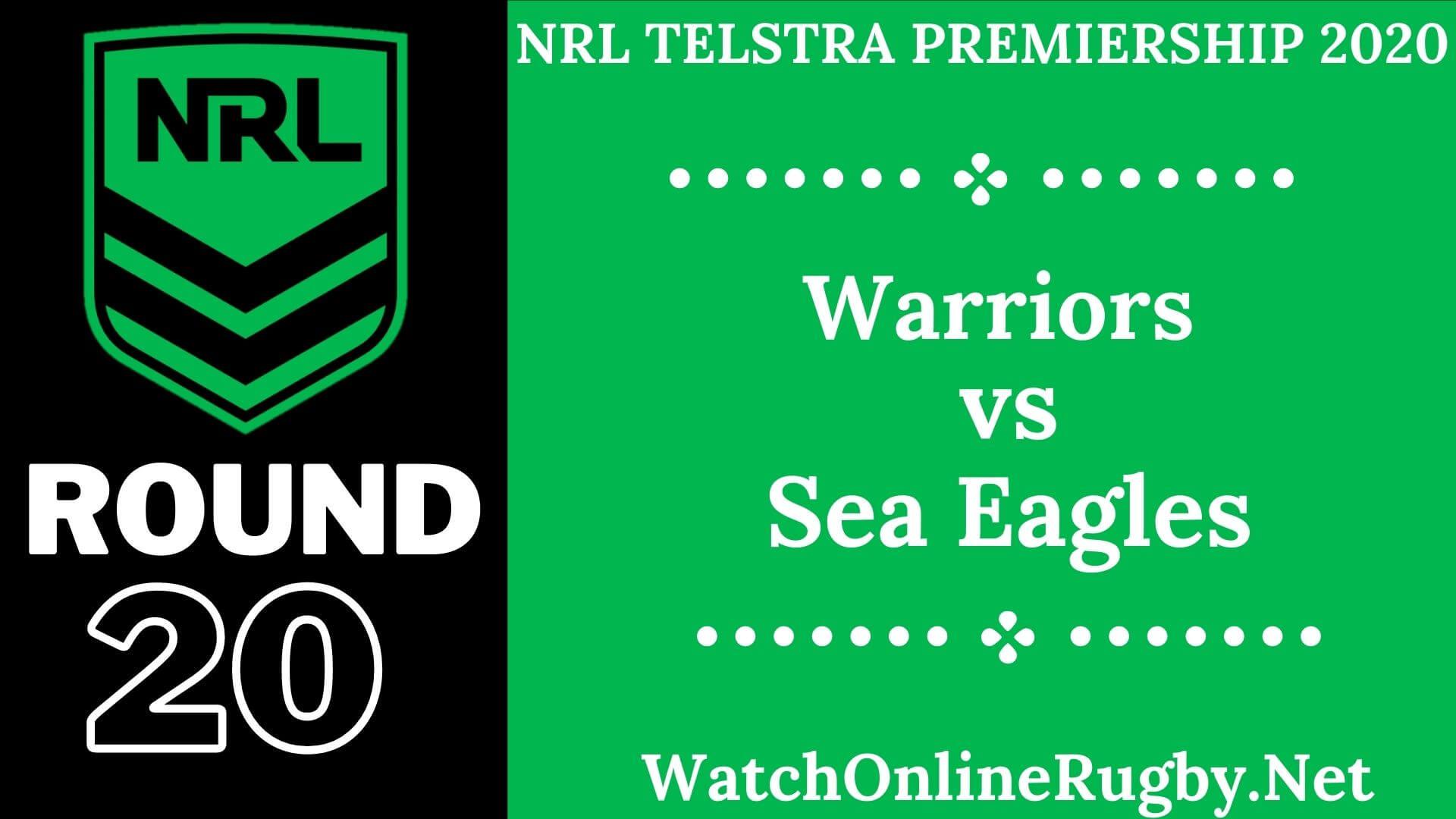 NZ Warriors Vs Sea Eagles Live Stream