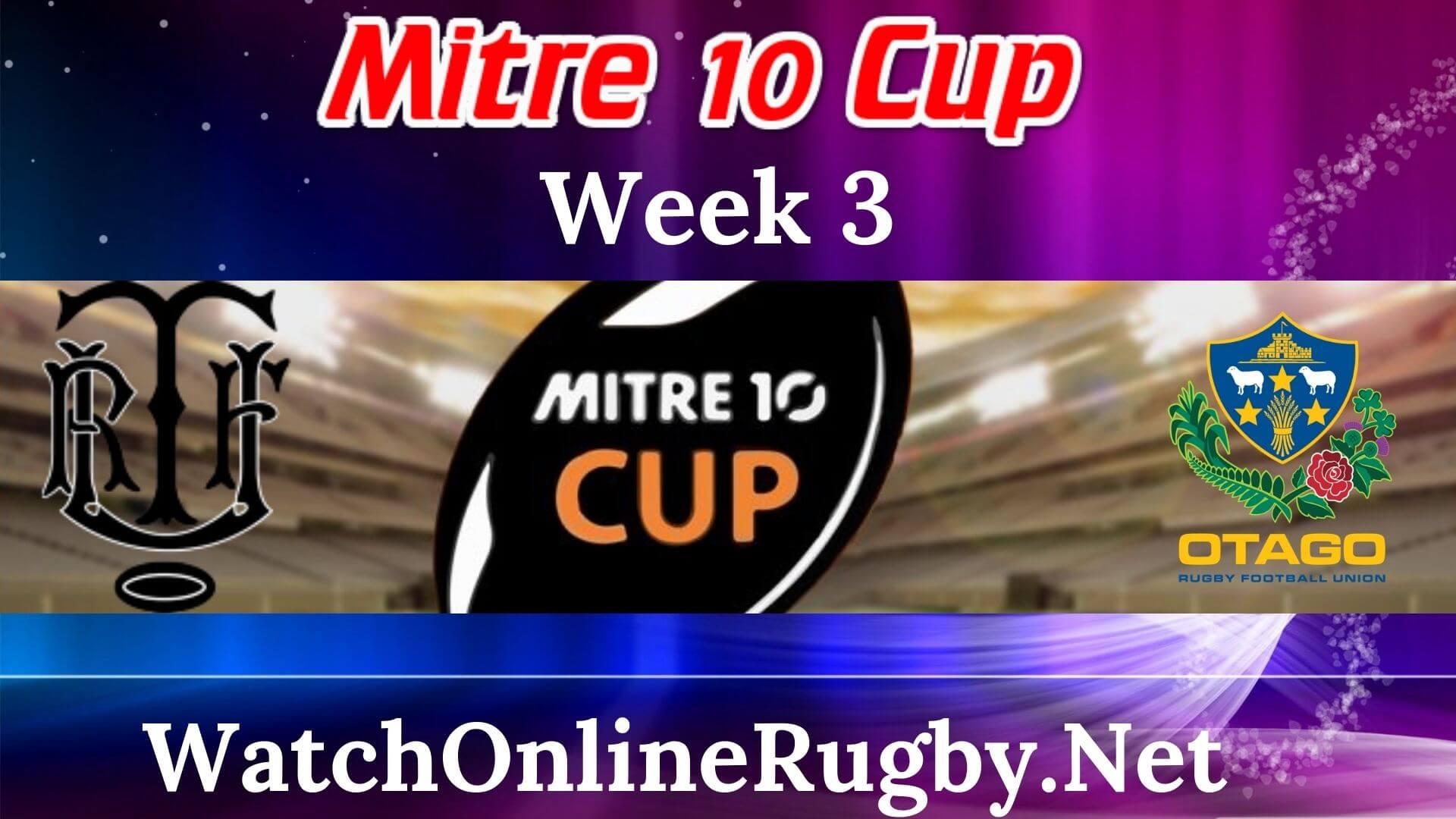 Taranaki VS Otago Live Stream Mitre 10 Cup