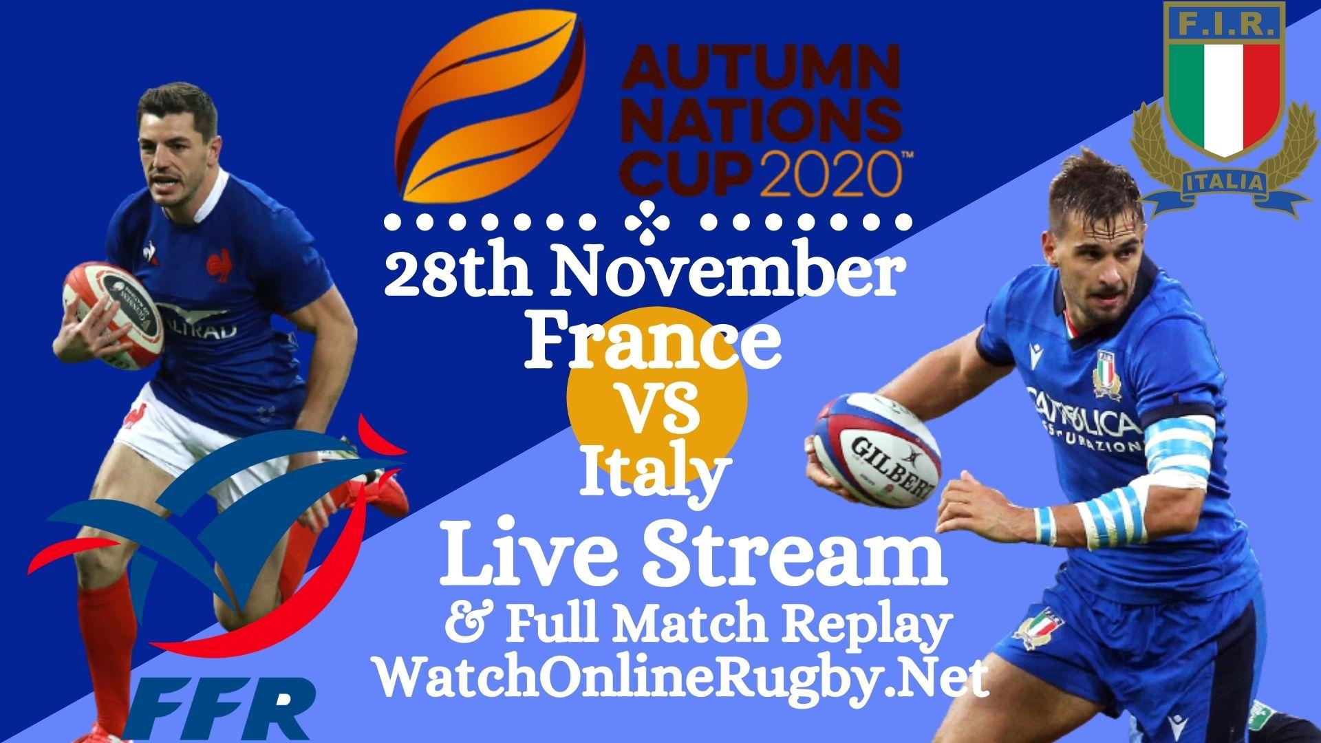 France VS Italy Live Stream Match Full Replay