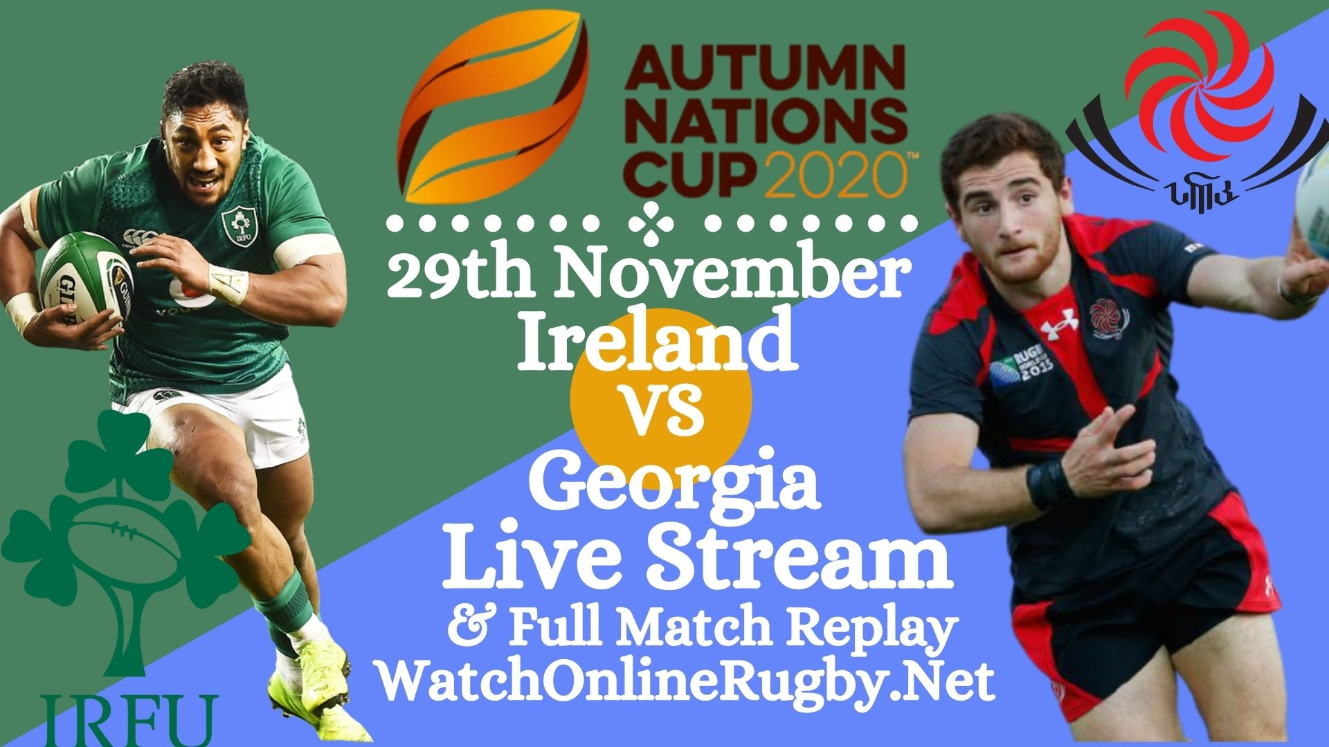 Georgia VS Ireland Live Stream Match Full Replay