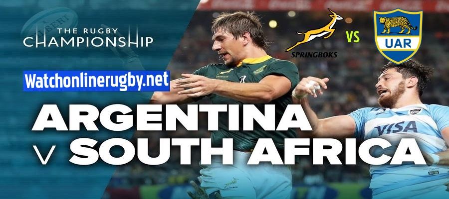Springboks VS Argentina Rugby Championship 2021 Live Stream