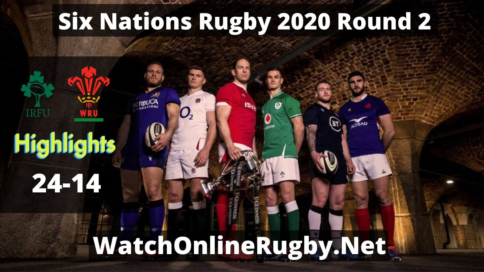 Ireland Vs Wales Six Nations Rugby Rd 2 Highlights 2020