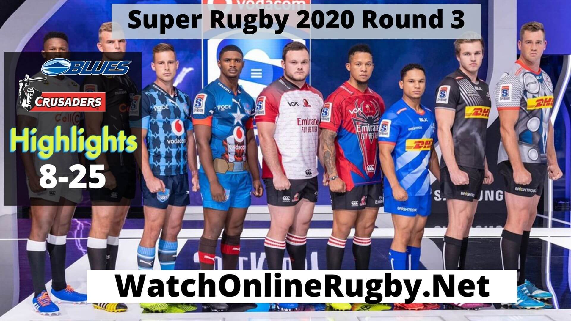 Blues Vs Crusaders Highlights 2020 Super Rugby Rd 3