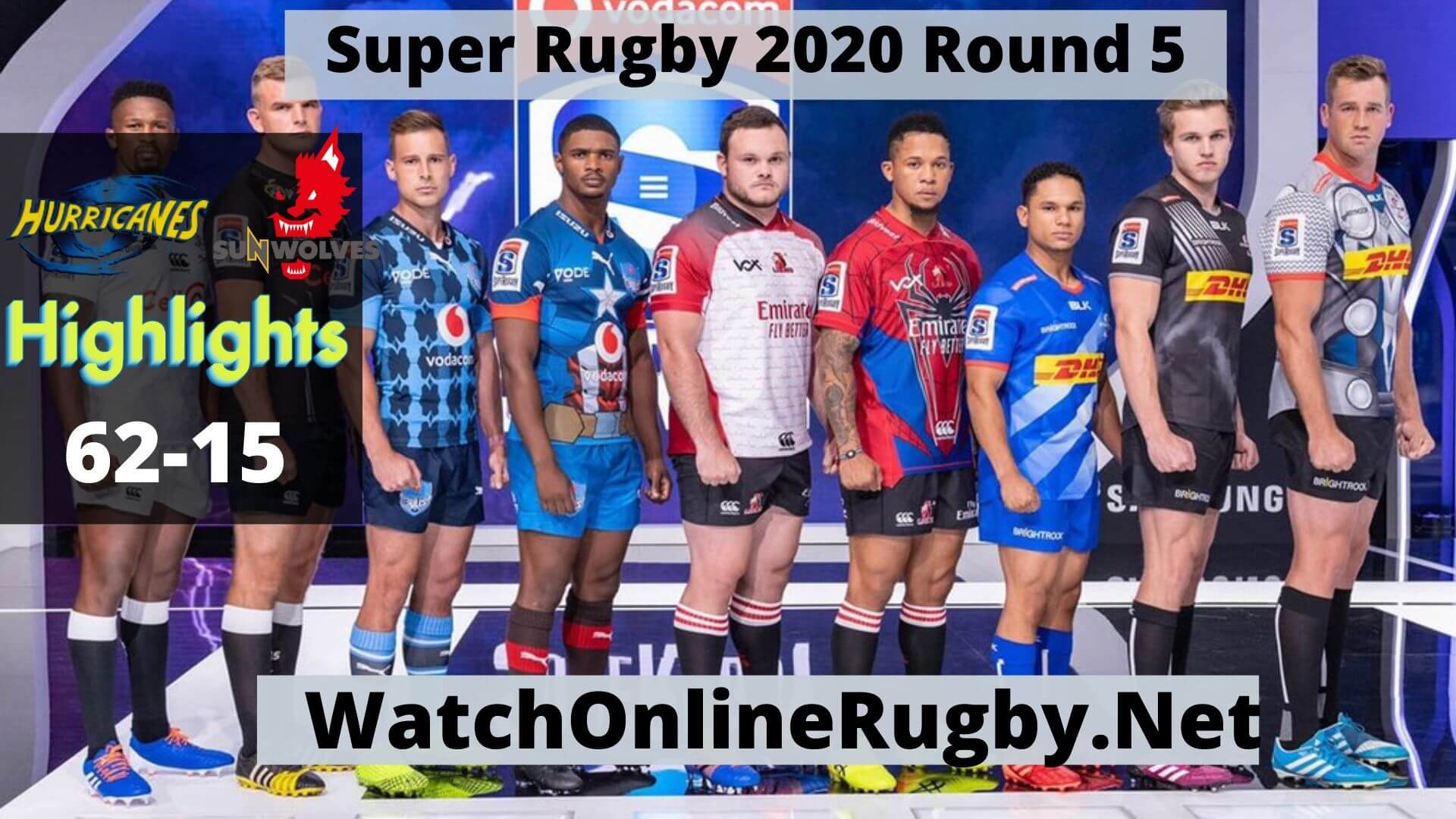 Hurricanes Vs Sunwolves Highlights 2020 Super Rugby Rd 5