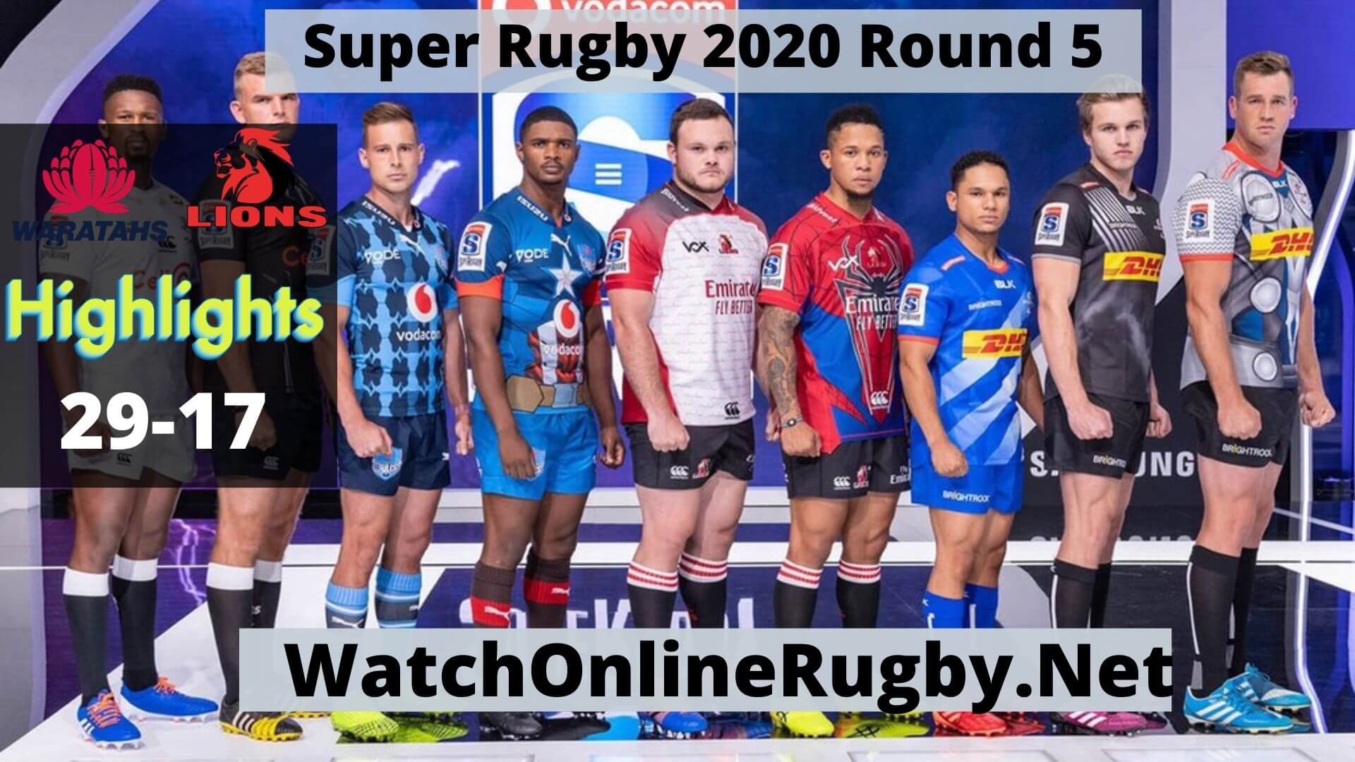 Waratahs Vs Lions Highlights 2020 Super Rugby Rd 5