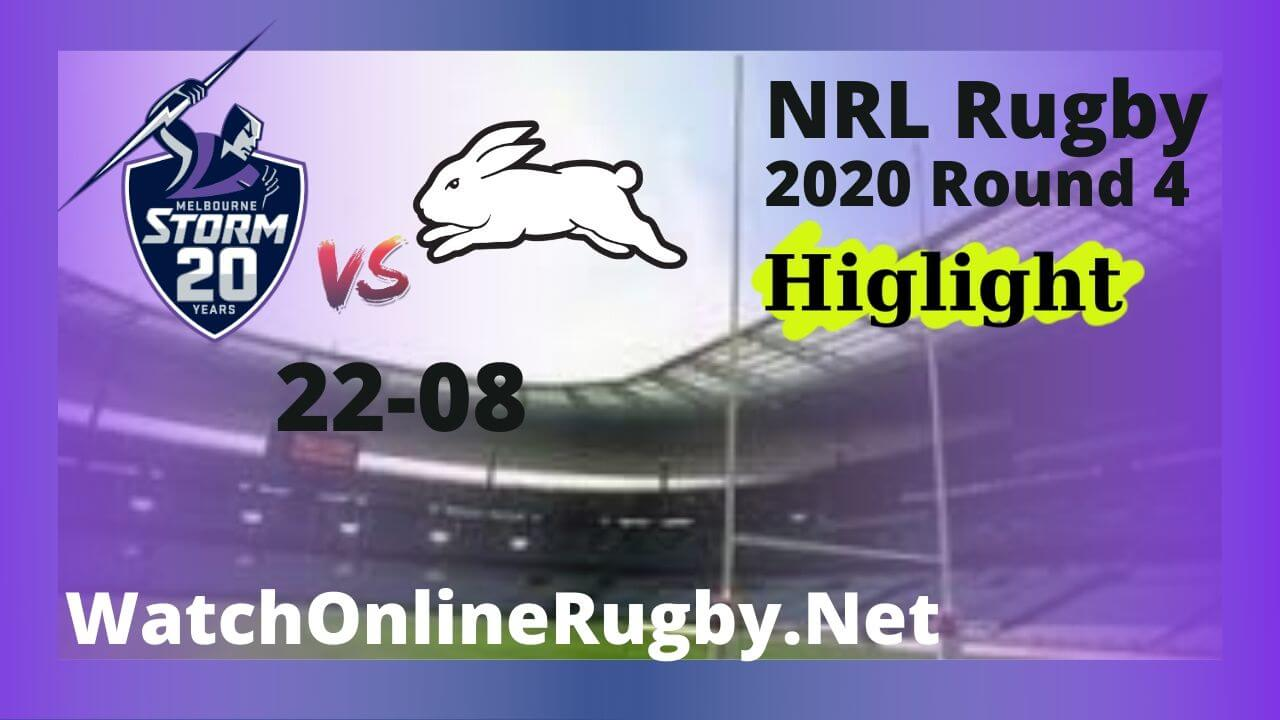 Rabbitohs Vs Storm Highlights 2020 Round 4 NRL Rugby