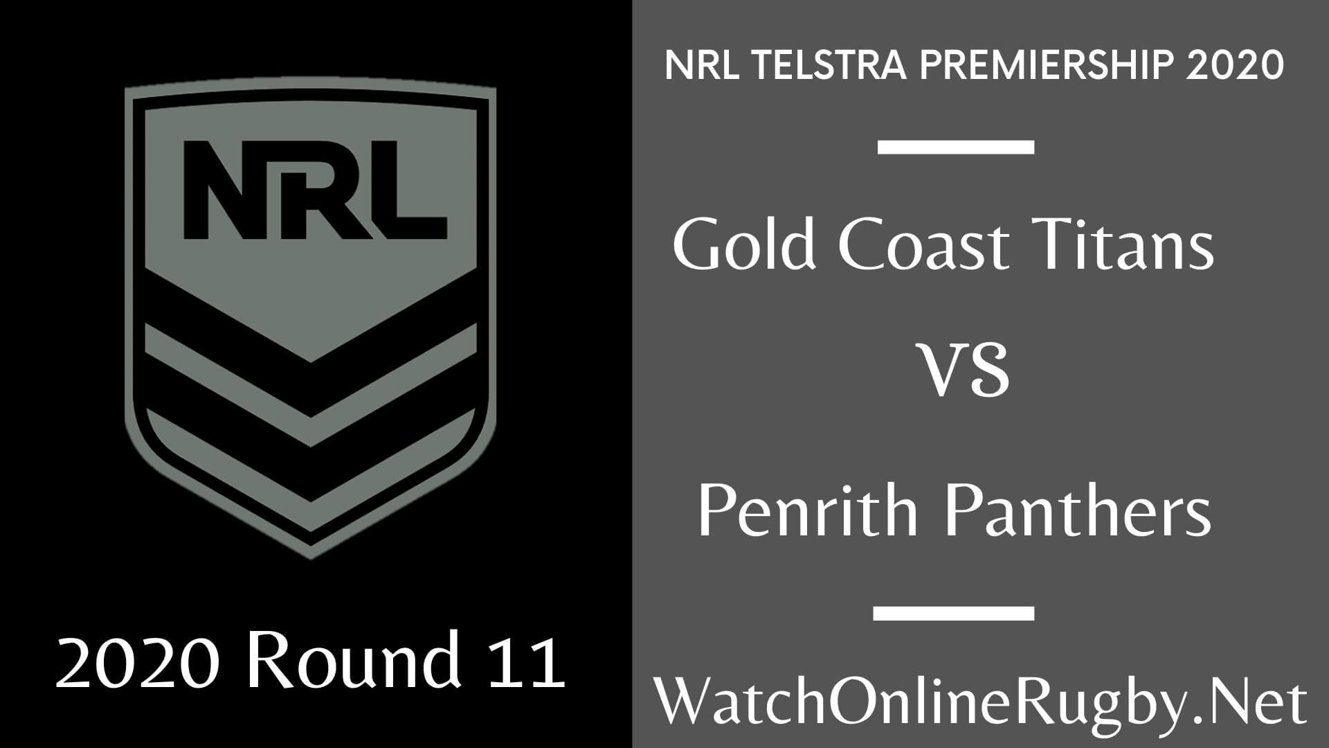 Titans Vs Panthers Highlights 2020 Round 11 Nrl Rugby