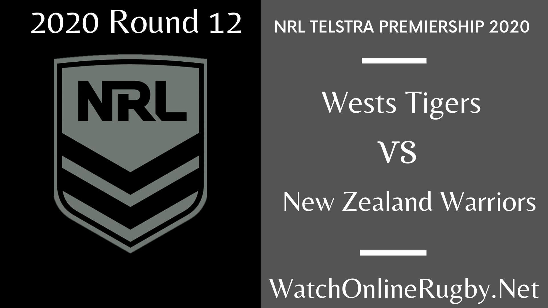 Wests Tigers Vs Warriors Highlights 2020 Round 12 Nrl Rugby