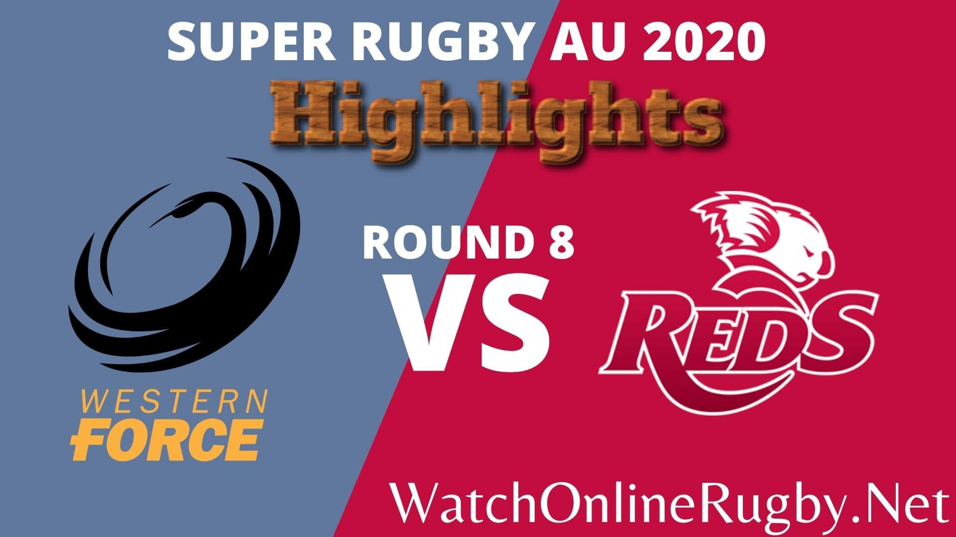 Force Vs Reds Highlights 2020 Rd 8