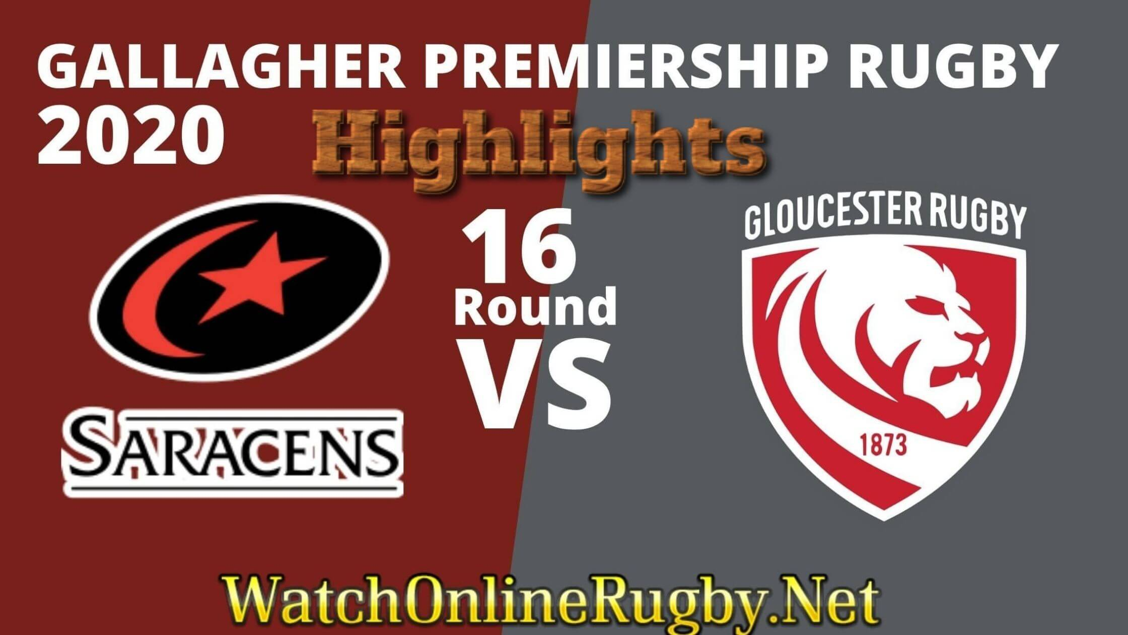 Saracens vs Gloucester Rugby Highlights Rd 16
