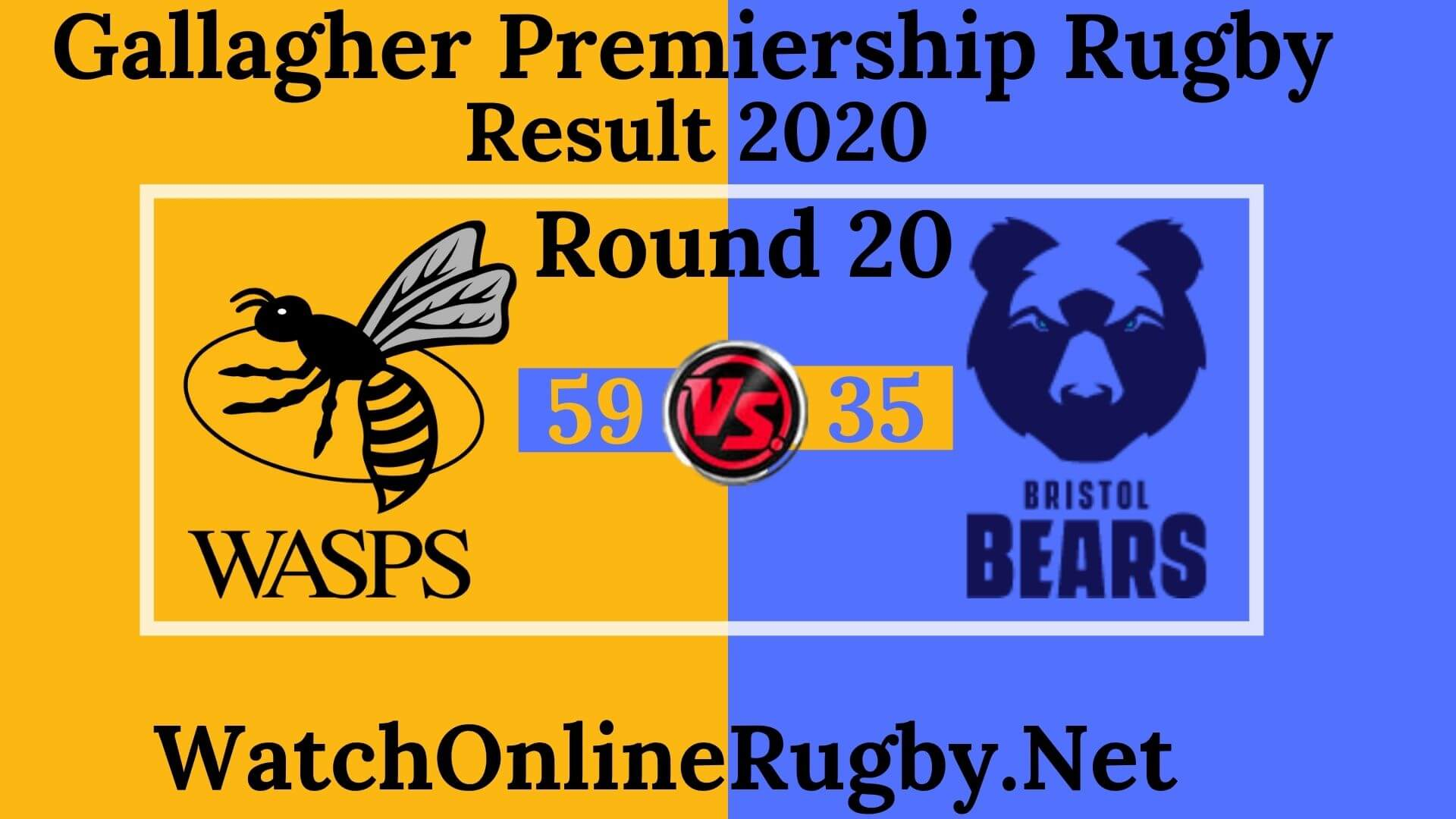 Wasps vs Bears Highlights 2020 Rd 20