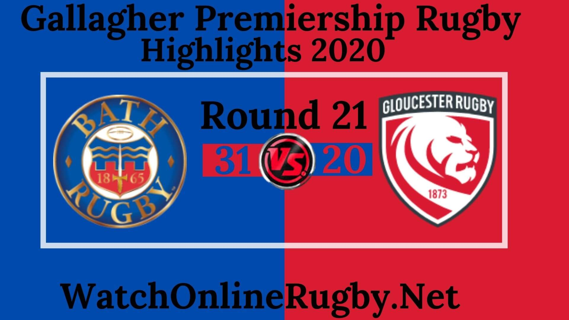 Bath Rugby vs Gloucester Highlights 2020 Rd 21