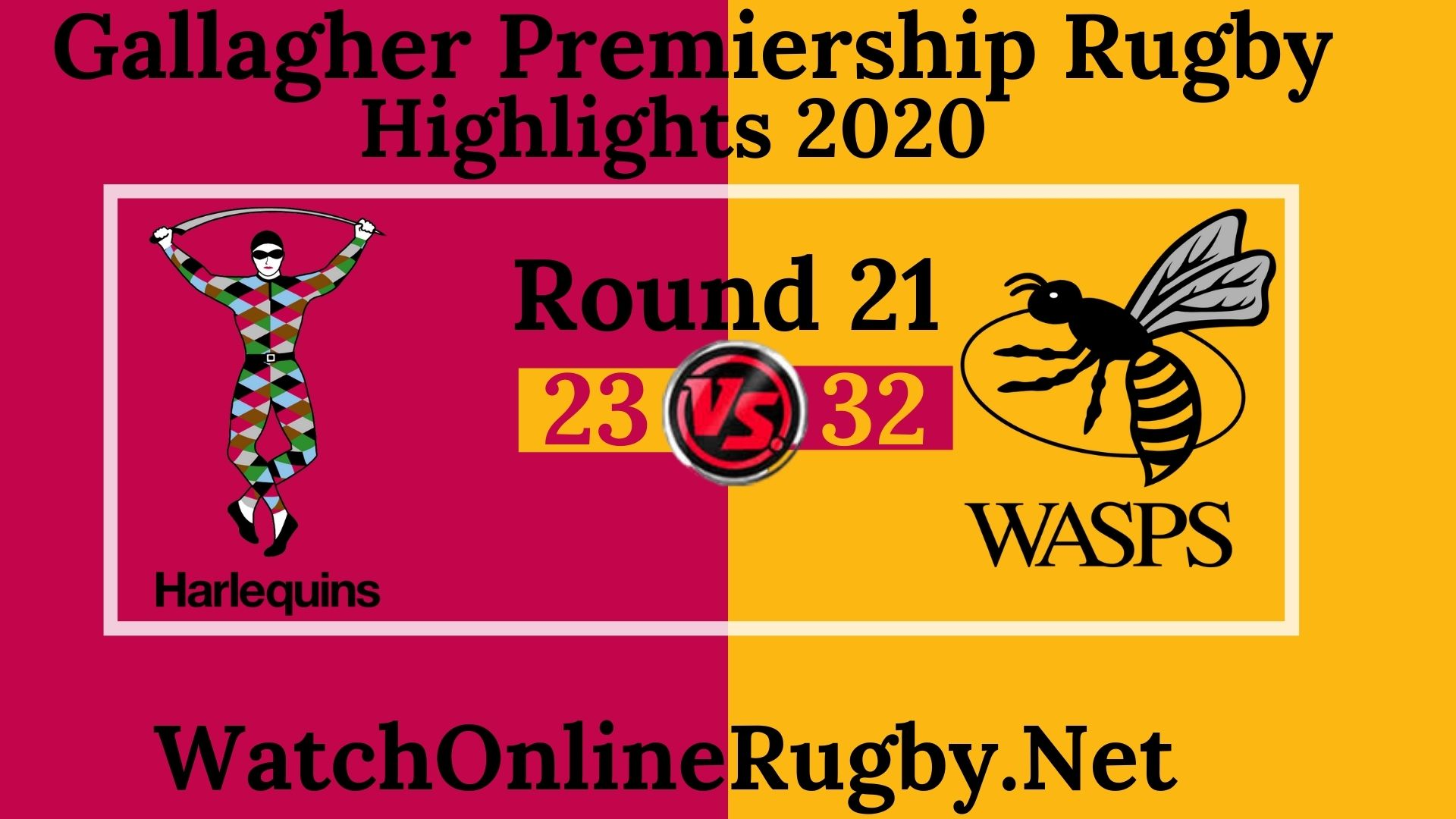 Harlequins vs Wasps Highlights 2020 Rd 21 Premiership Rugby