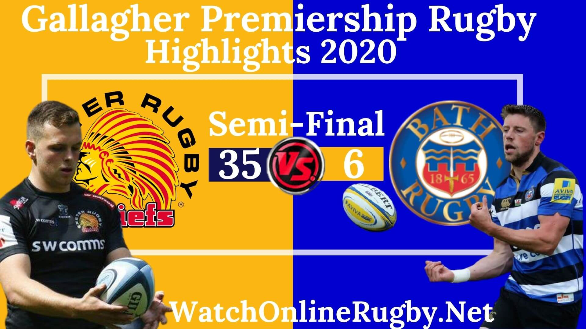 Exeter Chiefs Vs Bath Rugby Highlights 2020 Semi Final Premiership Rugby