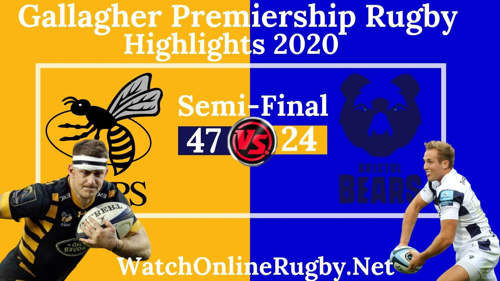 Wasps Vs Bristol Bears Highlights 2020 Semi Final Premiership Rugby