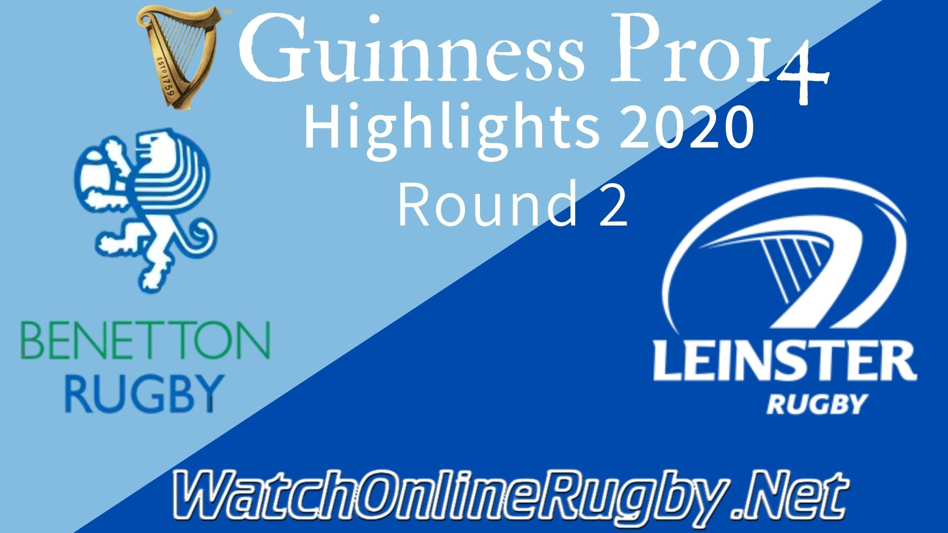 Benetton vs Leinster RD 2 Highlights 2020