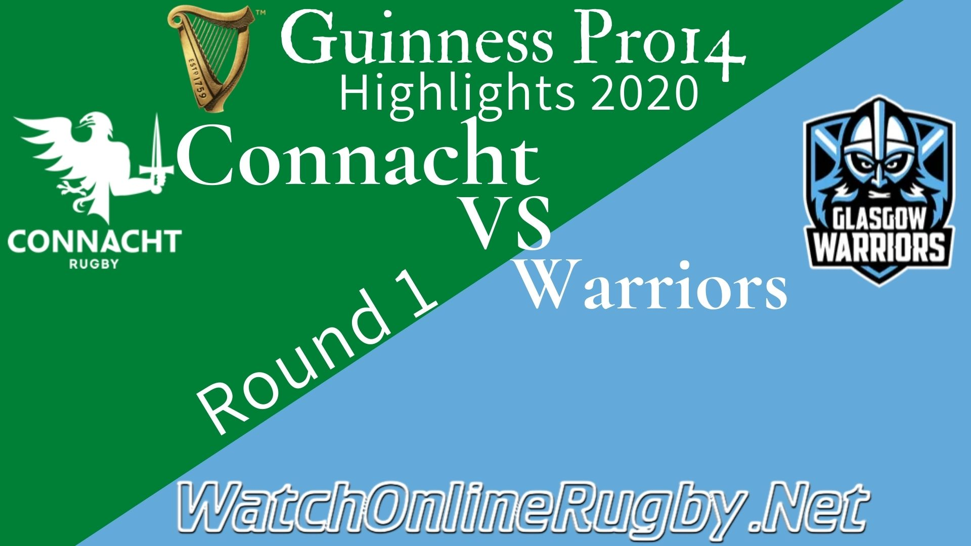 Connacht vs Glasgow Warriors RD 1 Highlights 2020
