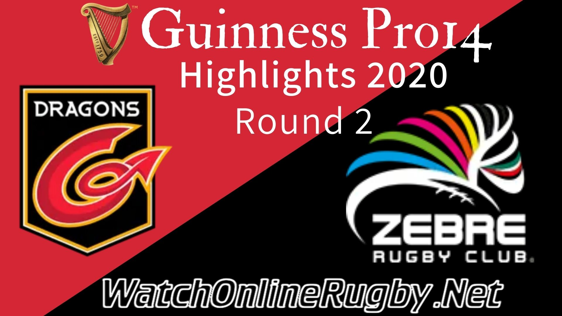 Dragons vs Zebre RD 2 Highlights 2020