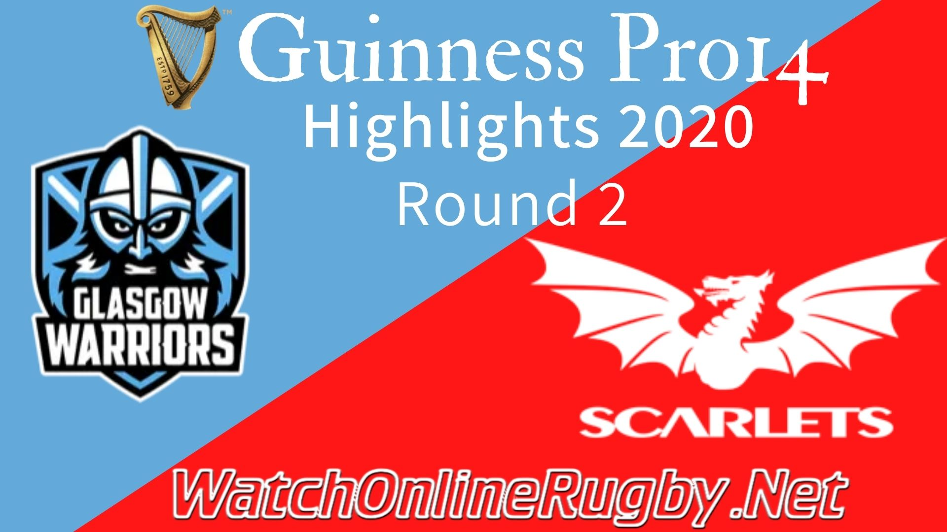Glasgow Warriors vs Scarlets RD 2 Highlights 2020