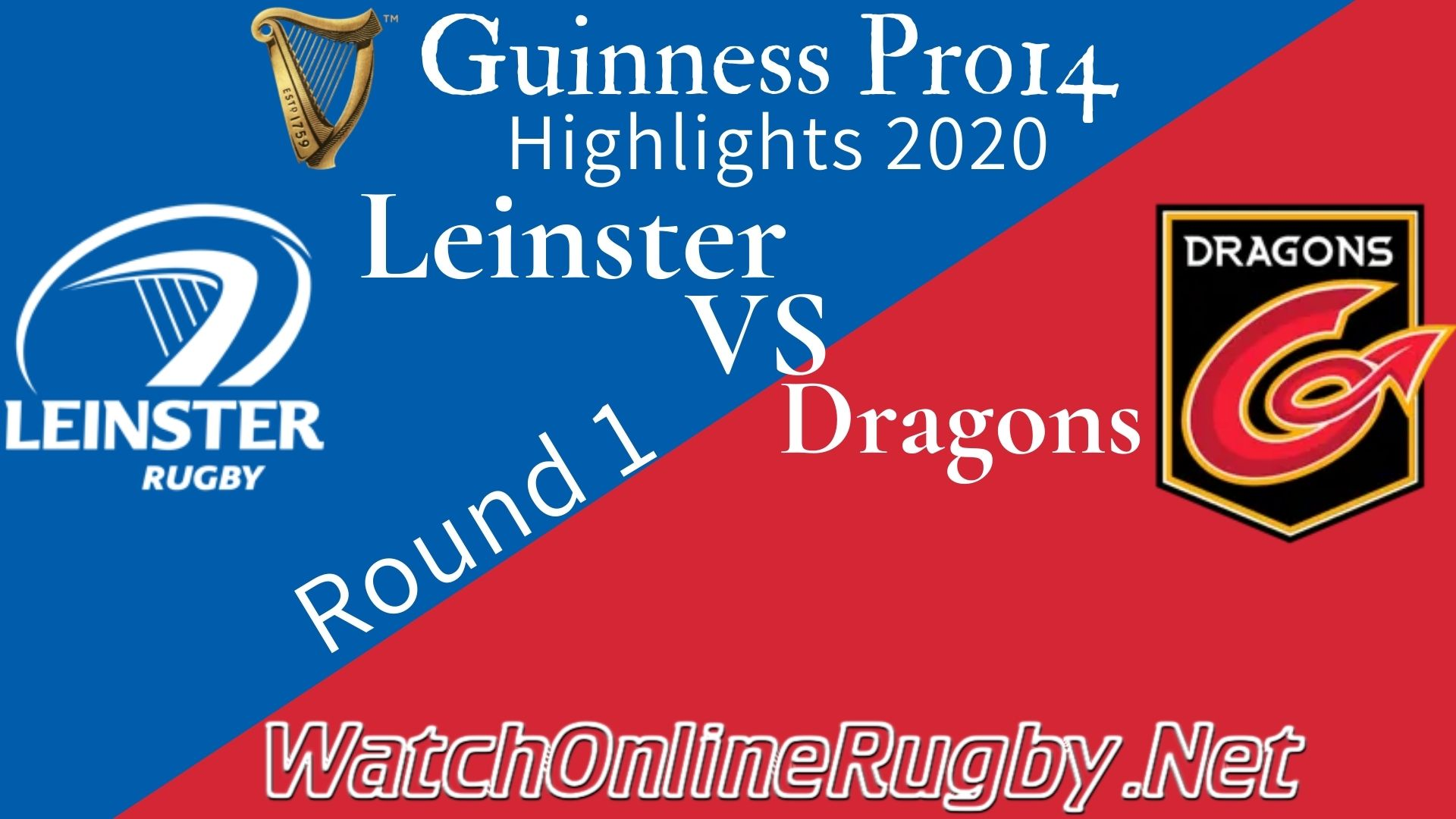 Leinster vs Dragons RD 1 Highlights 2020