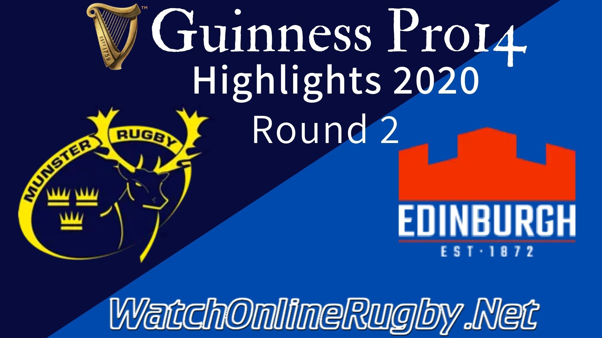 Munster vs Edinburgh RD 2 Highlights 2020
