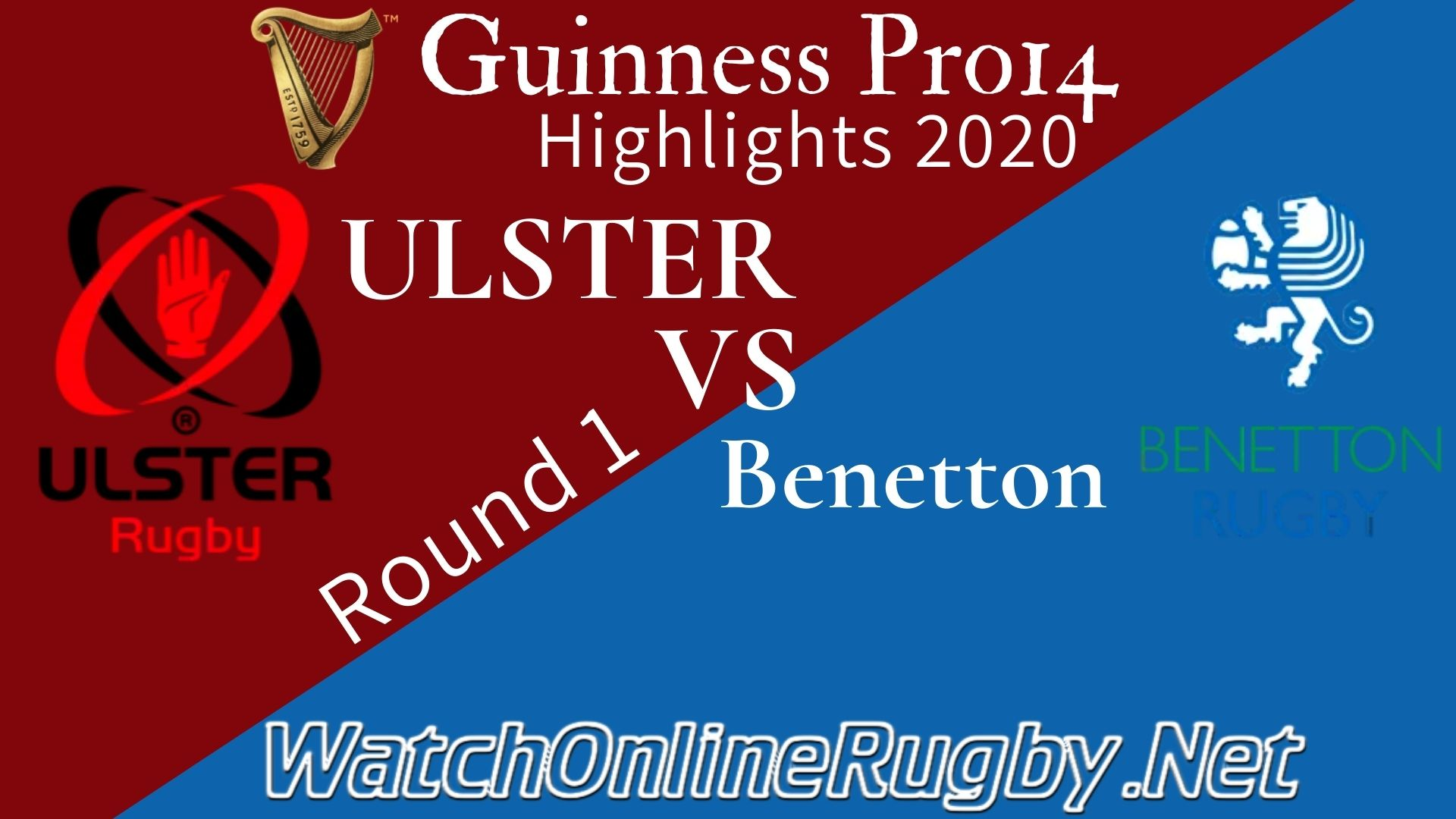 Ulster vs Benetton RD 1 Highlights 2020