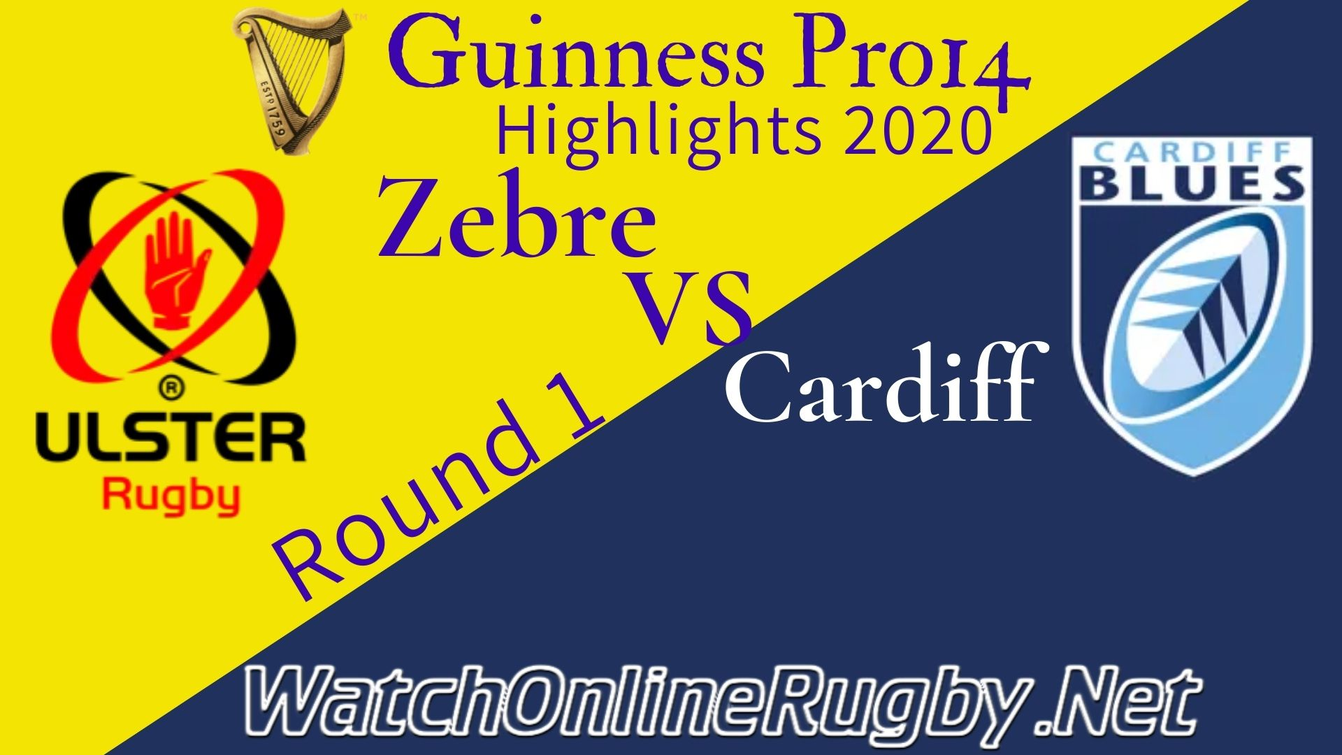 Zebre vs Cardiff Blues RD 1 Highlights 2020