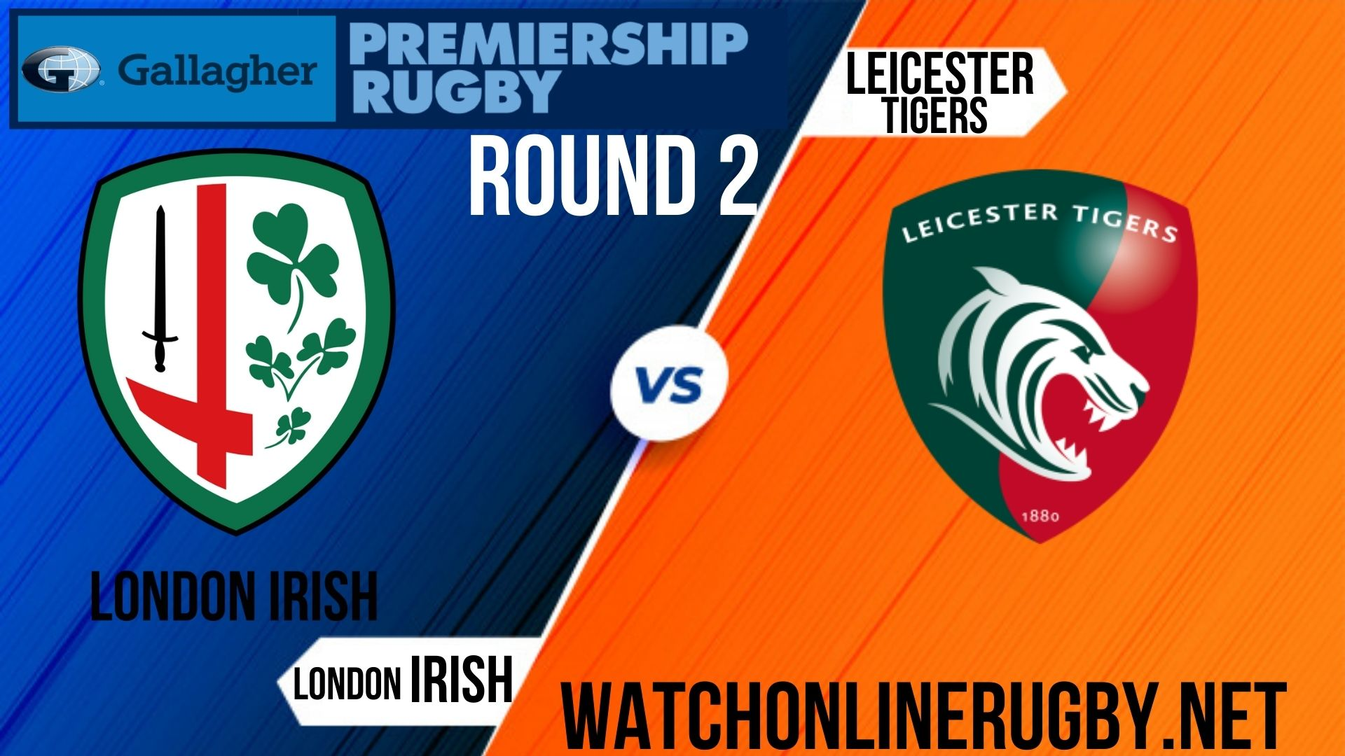 London Irish vs Leicester Tigers Premiership Rugby 2020 RD 2