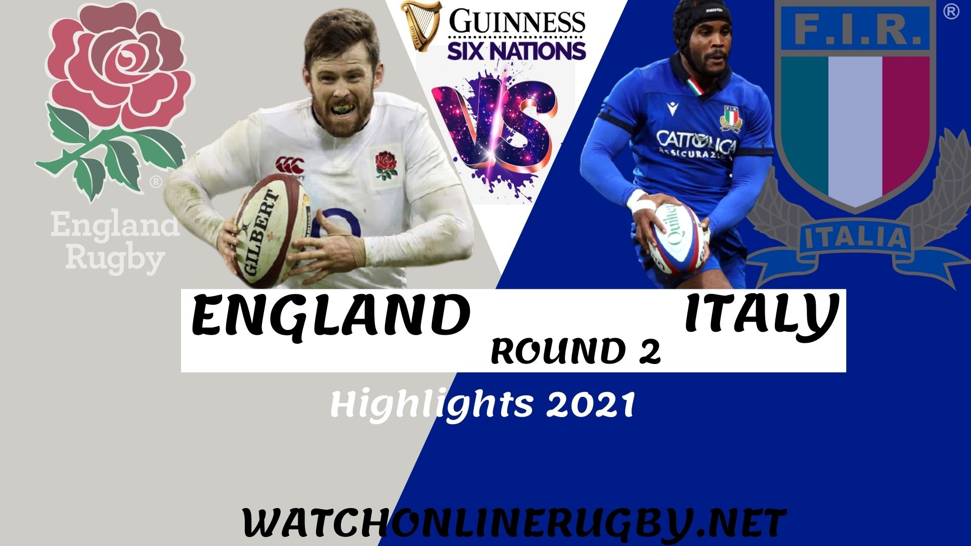 England Vs Italy Six Nation Rugby 2021 RD 2