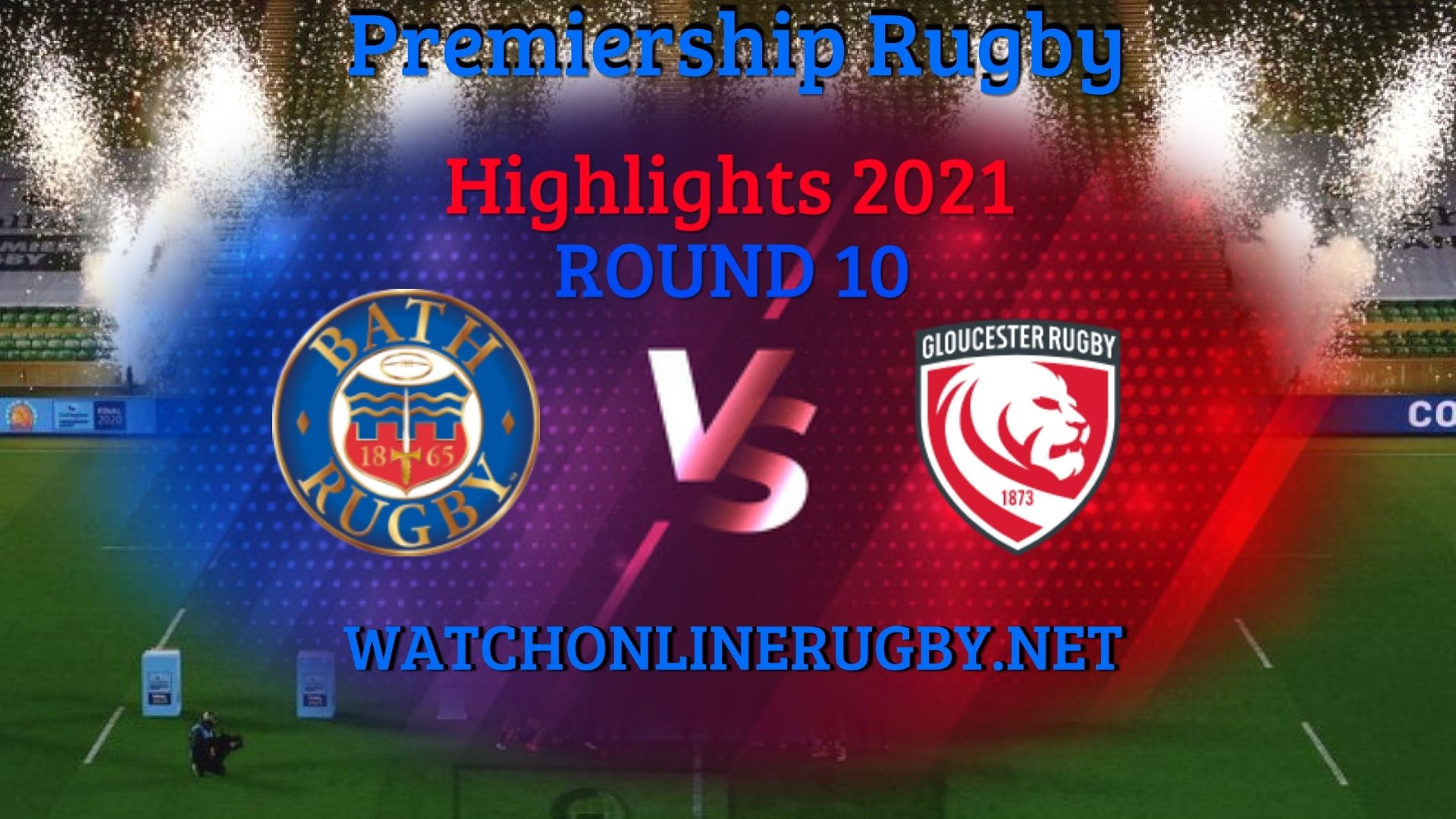 Bath Rugby Vs Gloucester Rugby Premiership Rugby 2021 RD 10
