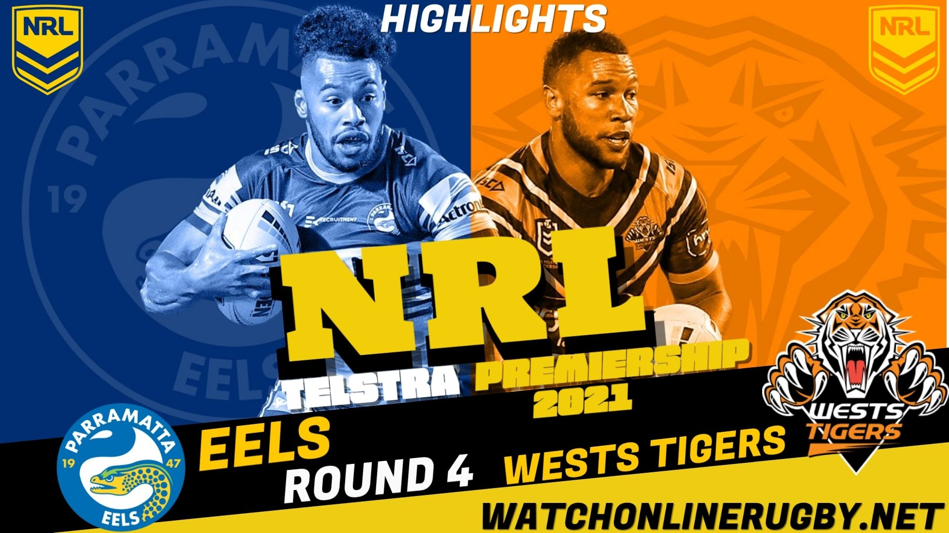 Wests Tigers Vs Eels Highlights RD 4 NRL Rugby