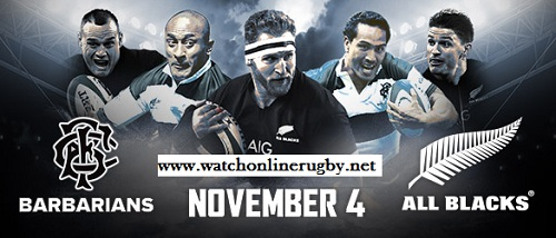 All Blacks vs Barbarians live