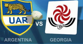 Argentina vs Georgia rugby live
