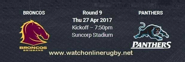 Brisbane Broncos vs Penrith Panthers live