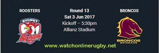 Brisbane Broncos vs Sydney Roosters live
