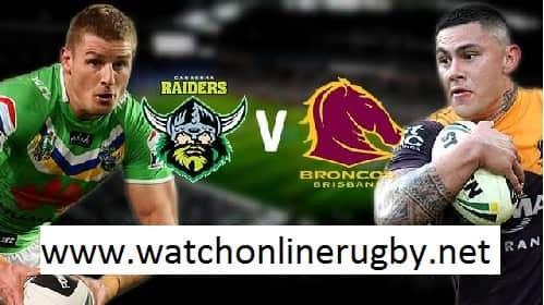 Canberra Raiders vs Brisbane Broncos live