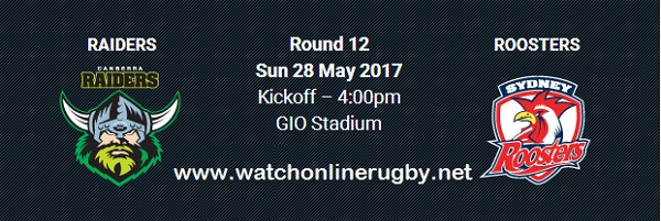 Canberra Raiders vs Sydney Roosters rugby live
