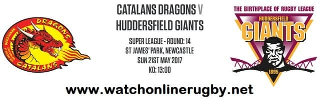 Catalans Dragons vs Huddersfield Giants live