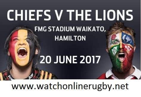 Chiefs vs British and Irish Lions live