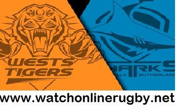 Cronulla-Sutherland Sharks vs Wests Tigers live