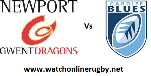 Dragons vs Cardiff Blues live