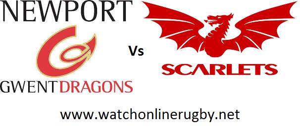Dragons vs Scarlets live