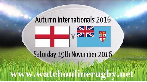 England vs Fiji Live