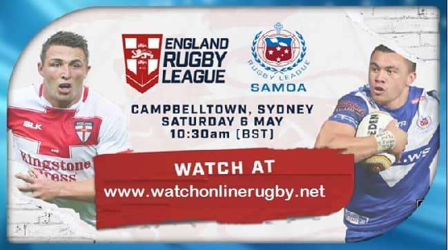 England vs Samoa live