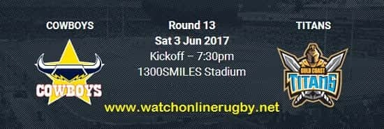 Gold Coast Titans VS North Queensland Cowboys live