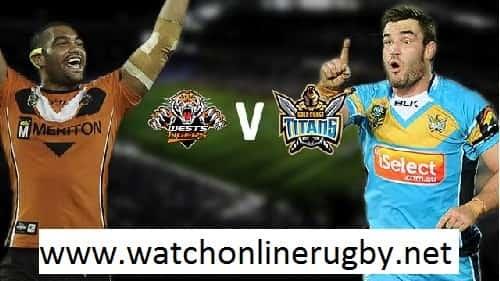 Gold Coast Titans vs Wests Tigers live