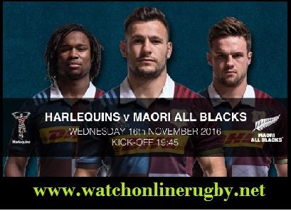 Harlequin vs Maori All Blacks live