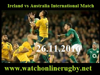 Australia vs Ireland Rugby Streaming Online