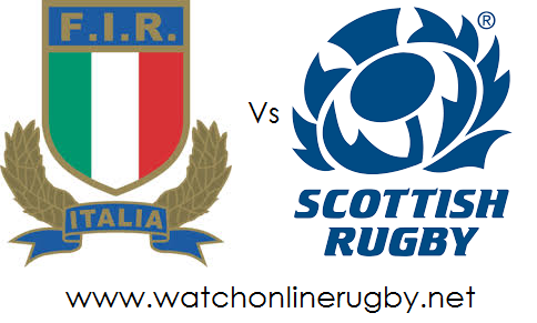 Italy vs Scotland live rugby
